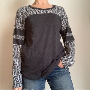 PrAna long sleeve recycled poly/organic cotton top